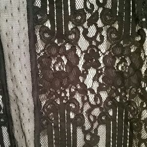 Express Tops - Express Petite Lace Short Sleeve Blouse NWOT